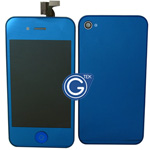 iPhone 4S Complete LCD with Battery Cover Metallic Blue