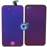 iPhone 4 Complete LCD with Battery Cover Metallic Purple