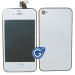 iPhone 4 Complete LCD with Battery Cover Metallic Silver