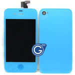 iPhone 4S Complete LCD with Battery Cover set in Light Blue