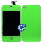iPhone 4 Complete LCD with Battery Cover set in Green