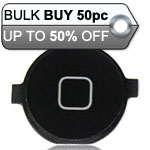 50pcs iPhone 4 Home Button Black