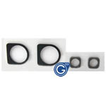 iPhone 4 sponge gasket 2pcs set for back camera and front camera- Replacement part (Compatible)