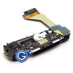 iPhone 4 system connector complete with loudspeaker, microphone & home button flex in black- replacement part (compatible)