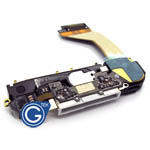 iPhone 4 system connector complete in white inc.loudspeaker.microphone and home flex- Replacement part (compatible)