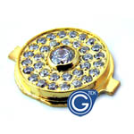 iPhone 4S/4 Diamond style home button gold with large diamond- Replacement part (compatible)