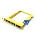 iPhone 4S/4 Gold sim holder with black diamond- Replacement part (compatible)