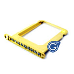 iPhone 4S/4 Gold sim holder with white diamond- Replacement part (compatible)
