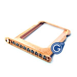 iPhone 4S/4 Rose gold sim holder with white diamond- Replacement part (compatible)