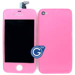 iPhone 4S Complete LCD with Battery Cover set in Pink