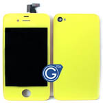 iPhone 4 Complete Lcd with Battery Cover set in Yellow