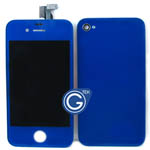 iPhone 4 Complete LCD with Battery Cover set in Deep Blue