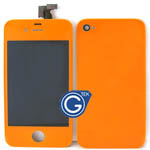 iPhone 4 Complete LCD with Battery Cover set in Orange
