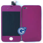 iPhone 4 Complete LCD with Battery Cover set in Purple