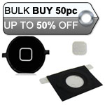 50pcs iPhone 4S home button with spacer complete black