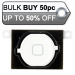 50pcs iPhone 4S home button with spacer complete white