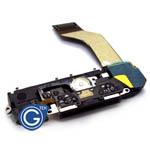 iPhone 4S system connector complete in black inc.loudspeaker.microphone and home flex-Replacement part (Compatible)