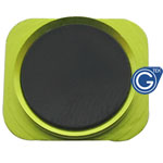iPhone 5 Black home button with Green chrome ring