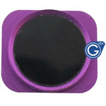 iPhone 5 Black home button with Purple chrome ring