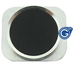 iPhone 5 Black home button with silver chrome ring