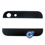 iPhone 5 Top and Bottom bezel part set of Back cover in Black