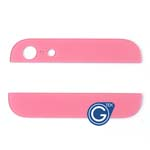 iPhone 5 Top and Bottom bezel part set of Back cover in Pink