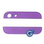 iPhone 5 Top and Bottom bezel part set of Back cover in Purple-Replacement part (compatible)
