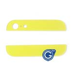 iPhone 5 Top and Bottom bezel part set of Back cover in Yellow