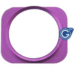iPhone 5 white home button with Purple chrome ring
