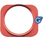 iPhone 5 white home button with Red chrome ring