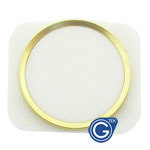 iPhone 5 white home button with gold chrome ring