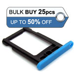 25pcs Bulk packed iPhone 5C sim holder blue