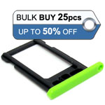 25pcs bulk packed iPhone 5C sim holder green