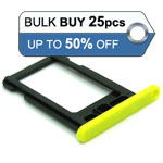 25pcs Bulk Packed iPhone 5C sim holder yellow