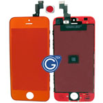 iPhone 5S Complete lcd and digitizer with frame in Crystal Mirror Orange- Replacement part (compatible)