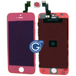 iPhone 5S Complete lcd and digitizer with frame in Crystal Mirror Pink- Replacement part (compatible)