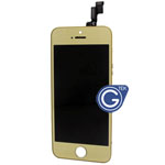 iPhone 5S Complete Lcd and Digitizer with Frame in Gold with Home Button
