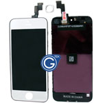 iPhone 5S Complete Lcd and Digitizer with Frame in Silver with Matching Home Button