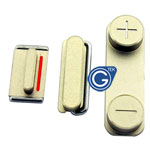iPhone 5S Side Button Set in Gold (Power, Volume and Mute Button )