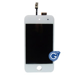 iPod touch 4 LCD and digitizer complete with adhesive in white- Replacement part (compatible)