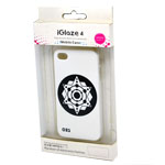 iglaze 4 Star Design Back Cover Case for iPhone 4/4S in White