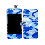 iPhone 4S Complete LCD Camouflage Blue Design with Back Cover
