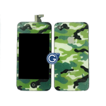 iPhone 4S Complete LCD Camouflage Green Design with Back Cover
