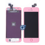 iPhone 5 LCD and Digitizer with Frame in Pink with Home Button