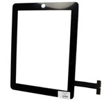 ipad Digitizer touchscreen in black