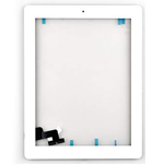 Ipad 2 Digitizer touchpad in White with Home button and metal bracket - manufactured by RD Factory - Top Quality Part