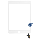 iPad Mini 3 Digitizer Touchscreen with IC, Adhesive, Camera Bracket in White - Use your existing home button, click here for video tutorial