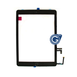 iPad Air Digitizer in Black with Parts HQ - Note: Please use your existing home button otherwise will not function to sleep mode