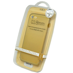 URV Gold Bumper Case for Apple iPhone 7 - 0.18mm in Retail Packaging