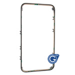 iPhone 4 front frame in black compatible with adhesive-Replacement part (compatible)